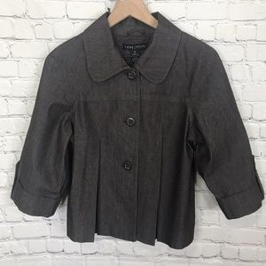 Larry Levine Brown Button Casual Jacket
